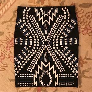 Tribal Bodycon Pencil Skirt